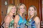Kelly Murray Castlemaine, Doreen Bradley Castleisland and Lisa Hickey Castleisland at the Kerry County Hunt club in the River Island hotel Castleisland on Saturday night....