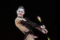 September 21, 2011; Montpellier, France;  ALINA MAKSYMENKO of Ukraine performs with clubs at 2011 World Championships.