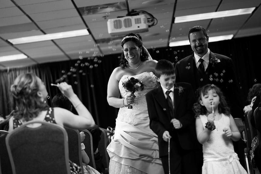 4/13/13 - Kathy and Trevor Price wedding at Sports Authority Field at Mile High.