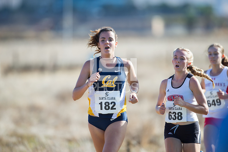 SANTA CLARA, CA - OCTOBER 15, 2016: Cal Cross Country during the Santa Clara Bronco Invitational.