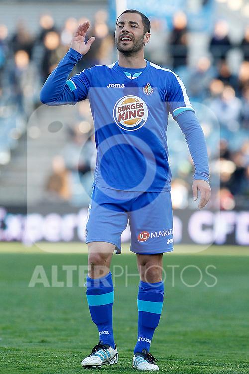 Getafe's Mehdi Lacen during La Liga match.March 17,2012. (ALTERPHOTOS/Acero)