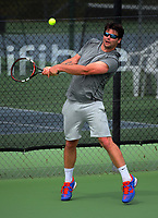Oliver Petri. 2017 Wellington Open tennis championship at Renouf Tennis Centre in Wellington, New Zealand on Tuesday, 19 December 2017. Photo: Dave Lintott / lintottphoto.co.nz