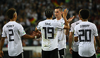 Torjubel Leroy Sane (Deutschland Germany) beim 8:0 mit Thilo Kehrer (Deutschland Germany), Julian Draxler (Deutschland, Germany), Serge Gnabry (Deutschland Germany) - 11.06.2019: Deutschland vs. Estland, OPEL Arena Mainz, EM-Qualifikation DISCLAIMER: DFB regulations prohibit any use of photographs as image sequences and/or quasi-video.