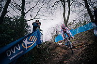 eventual winner; European U23 CX Champion Ceylin del Carmen Alvarado (NED/Corendon-Circus)<br /> <br /> Brussels Universities Cyclocross (BEL) 2019<br /> Women's Race<br /> DVV Trofee<br /> &copy;kramon