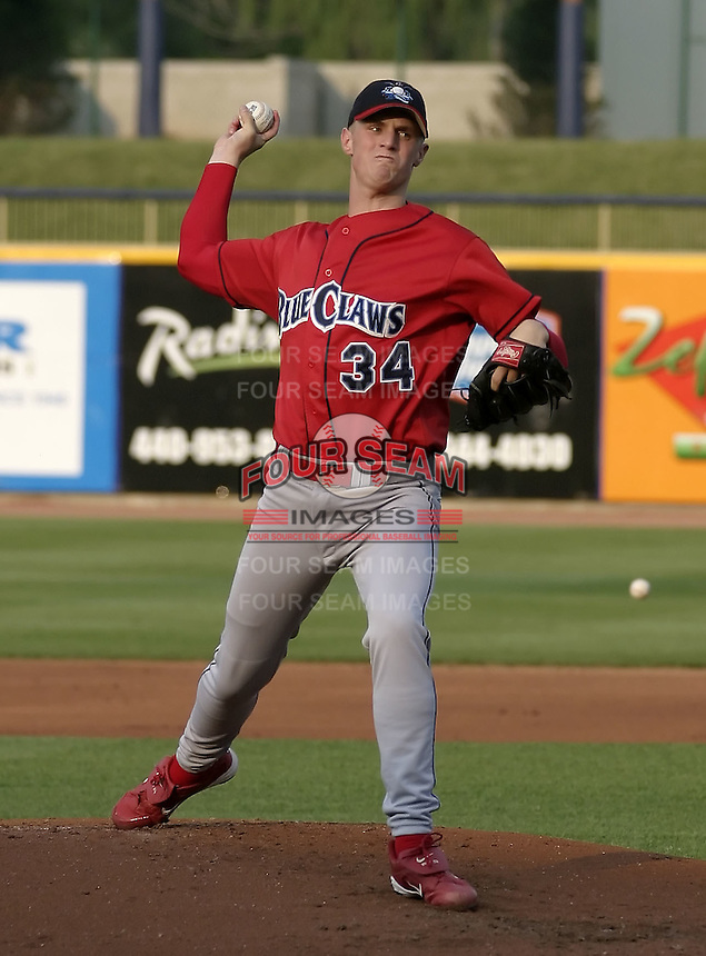 June 7, 2004:  Pitcher Kyle Kendrick of the Lakewood Blueclaws, Low-A South Atlantic League affiliate of the Philadelphia Phillies, during a game at Classic Park in Eastlake, OH.  Photo by:  Mike Janes/Four Seam Images