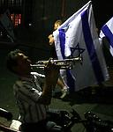 ISRAELI PEACE ACTIVIST PROTEST IN TEL AVIV