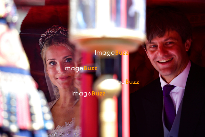 Mariage religieux du Prince Ernst junior de Hanovre et de Ekaterina Malysheva &agrave; l'&eacute;glise Markkirche &agrave; Hanovre.<br /> Allemagne, Hanovre, 8 juillet 2017.<br /> Religious wedding of Prince Ernst Junior of Hanover and Ekaterina Malysheva at the Markkirche church in Hanover.<br /> Germany, Hanover, 8 july 2017<br /> Pic :  Prince Ernst Junior of Hanover &amp; Ekaterina Malysheva