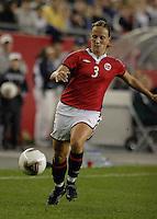 Ane Stangeland, USA vs. Norway, in Boston, Ma, 2003 WWC.