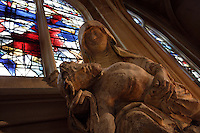 OISE, FRANCE - OCTOBER 26: Detail of Pieta (15th century) at the south aisle of the Cathedral Notre-Dame de Senlis on October 26, 2008 in Oise, France. The cathedral was built between 1153 and 1191. (Photo by Manuel Cohen)