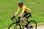 Race leader Yellow Jersey Adam Yates (GBR) Mitchelton-Scott during Stage 6 of the Criterium du Dauphine 2019, running 229km from Saint-Vulbas - Plaine de l'Ain to Saint-Michel-de-Maurienne, France. 14th June 2019.<br /> Picture: ASO/Alex Broadway | Cyclefile<br /> All photos usage must carry mandatory copyright credit (© Cyclefile | ASO/Alex Broadway)