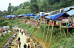 Can Cau Market - The hillside Flower Hmong market at Can Cau village, in the mountainous northwest of Viet Nam