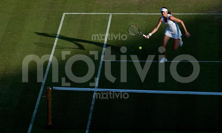 Daniela Hantuchova (SVK) plays against Vania King (USA) on Court 1. The Wimbledon Championships 2010 The All England Lawn Tennis & Croquet Club  Day 2 Tuesday 22/06/2010