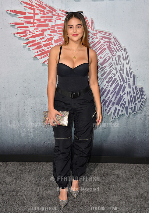 """LOS ANGELES, CA. August 28, 2018: Lauren Giraldo at the world premiere of """"Peppermint"""" at the Regal LA Live."""