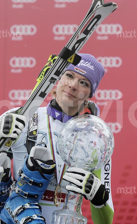 Ski Alpin  Weltcup -Finale Frauen  Saison  2010/2011   19.03.2011 JUBEL; Maria Riesch (GER) gewinnt zum ersten Mal den Gesamtweltcup