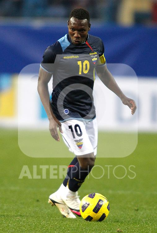 Ecuador's national team Walter Ayovi during international friendly. March 26, 2011. (ALTERPHOTOS/Alvaro Hernandez)
