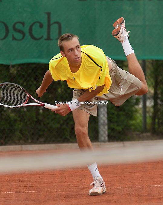 12-8-09, Den Bosch,Nationale Tennis Kampioenschappen, 1e ronde,  Thomas Schoorel