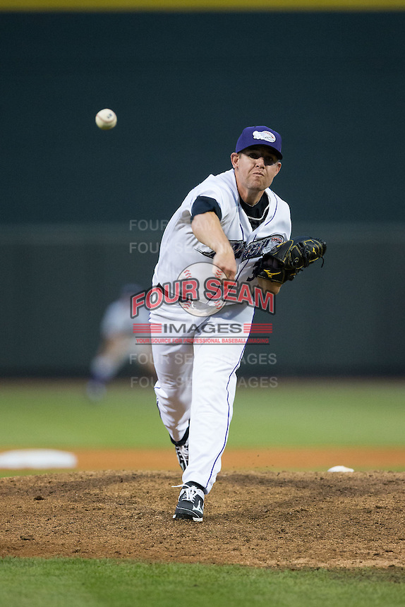 Winston-Salem Dash relief pitcher Brad Goldberg (30) in action against the Myrtle Beach Pelicans at BB&T Ballpark on April 18, 2015 in Winston-Salem, North Carolina.  The Pelicans defeated the Dash 8-4 in game two of a double-header.  (Brian Westerholt/Four Seam Images)