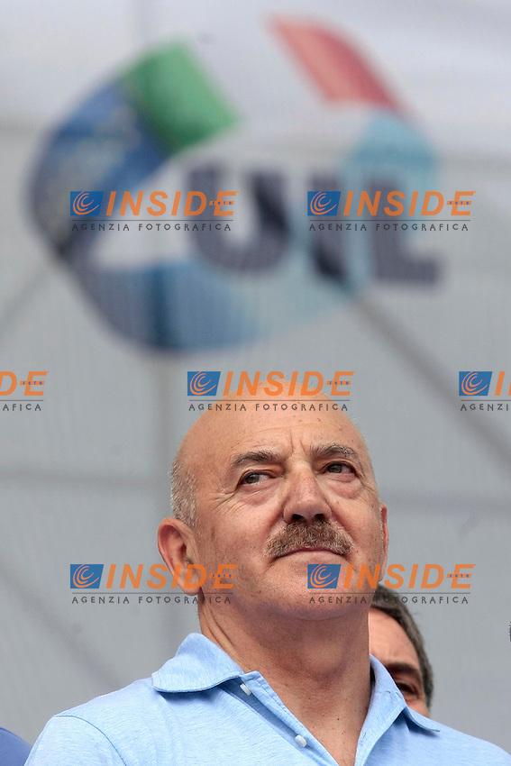 Luigi Angeletti <br /> Roma 22/06/2013 Corteo Manifestazione dei sindacati riuniti CGIL, CISL E UIL.<br /> Photo Samantha Zucchi Insidefoto