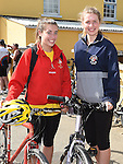 Aoife Gregory and Aine Kelly who took part n the annual Dromin charity cycle in aid of Ardee Hospice.  Photo:Colin Bell/pressphotos.ie