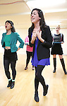 Barrett Wilbert Weed and cast performing at the Open Press Rehearsal for 'Heathers The Musical' on February 19, 2014 at The Snapple Theatre Center in New York City.