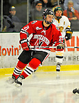 18 January 2008: Northeastern University Huskies' defenseman Drew Muench, a Freshman from Martensville, Saskatchewan, in action against the University of Vermont Catamounts at Gutterson Fieldhouse in Burlington, Vermont. The two teams battled to a 2-2 tie in the first game of their 2-game weekend series...Mandatory Photo Credit: Ed Wolfstein Photo