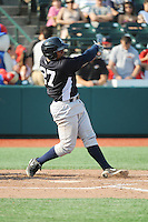 Staten Island Yankees catcher Isaias Tejeda (27) during game against the Brooklyn Cyclones at MCU Park on June 29, 2014 in Brooklyn, NY.  Staten Island defeated Brooklyn 5-4.  (Tomasso DeRosa/Four Seam Images)