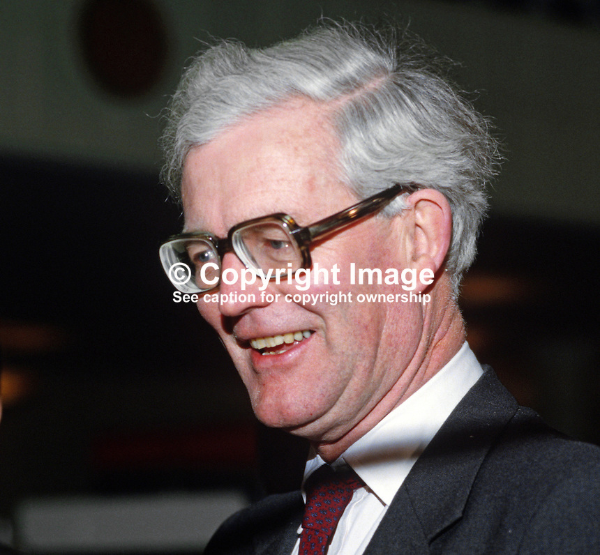 Douglas Hurd, Secretary of State for N Ireland, UK, 19850021DH1.<br />