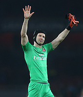 Arsenal's Petr Cech<br /> <br /> Photographer Rob Newell/CameraSport<br /> <br /> UEFA Europa League Round of 32 Second Leg - Arsenal v BATE Borisov - Thursday 21st February 2019 - The Emirates - London<br />  <br /> World Copyright © 2018 CameraSport. All rights reserved. 43 Linden Ave. Countesthorpe. Leicester. England. LE8 5PG - Tel: +44 (0) 116 277 4147 - admin@camerasport.com - www.camerasport.com