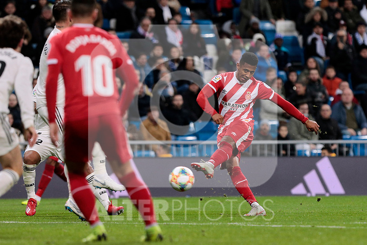 Girona FC's Antony Lozano during Copa del Rey match between Real Madrid and Girona FC at Santiago Bernabeu Stadium in Madrid, Spain. January 24, 2019. (ALTERPHOTOS/A. Perez Meca)