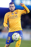FC Barcelona's Jordi Alba during La Liga match. April 9,2016. (ALTERPHOTOS/Acero)