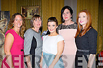 Claire Kelly, Angela Mitchell, Saoirse Mangan, Johanna King and Courtney Griffin at the Killorglin Community College fashion show in the Manor Inn on Friday night