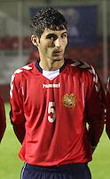 Hakob Loretsyan in the Armenia v Switzerland UEFA European Under-19 Championship Qualifying Round match at New Douglas Park, Hamilton on 11.10.12.