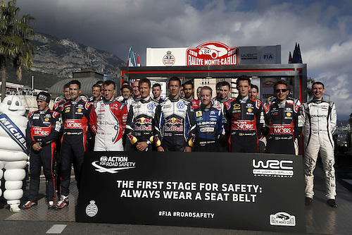 21.01.2016. Monte Carlo, Monaco. The Monte Carlo Rally 2016. The presentation of the cars and drivers in Monaco.  Drivers on display