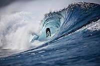 CJ HOBGOOD (USA)  surfing at a reef pass near Teahupoo, Tahiti, (Friday May 15 2009.) Photo: joliphotos.com