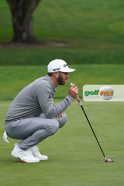 Dustin Johnson (USA) in action during the third round of the AT&T Pro-Am, Pebble Beach, Monterey, California, USA. 07/02/2020<br /> Picture: Golffile | Phil Inglis<br /> <br /> <br /> All photo usage must carry mandatory copyright credit (© Golffile | Phil Inglis)