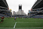 20 November 2009: Real Salt Lake held a training session and press conference at Qwest Field in Seattle, Washington in preparation for playing the Los Angeles Galaxy in Major League Soccer's championship game, MLS Cup 2009, two days later.