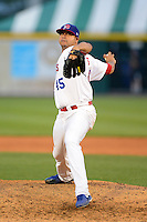 Buffalo Bisons pitcher Claudio Vargas #45 during a game against the Durham Bulls on June 24, 2013 at Coca-Cola Field in Buffalo, New York.  Durham defeated Buffalo 7-1.  (Mike Janes/Four Seam Images)