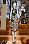 Ruby Swindler dress shown at the Catherine Martin and Muccia Prada Dress Gatsby display at Prada store in SOHO, NYC May 4, 2013.