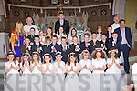 Pupils from Gaelscoil Aogain Castleisland who recieved their first holy communion in St Stephen and John church Castleisland on Saturday....