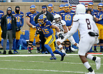 SIOUX FALLS, SD - NOVEMBER 3: Cade Johnson #15 from South Dakota State looks for running room against Missouri State during their game Saturday afternoon at Dana J. Dykhouse Stadium in Brookings. (Photo by Dave Eggen/Inertia)