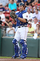 Buffalo Bisons catcher Mike Nickeas (59) during a game vs. the Syracuse Chiefs at Coca-Cola Field in Buffalo, New York;  August 30, 2010.  Syracuse defeated Buffalo 4-1.  Photo By Mike Janes/Four Seam Images