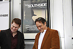 "As The World Turns' Trent Dawson and Jon Lindstrom came to support The private Industry Screening of ""The Southside"", A Lany Film Tribute to Robert Areizaga, Jr. on February 27, 2012 at Tribeca Cinemas, New York City, New York.  (Photo by Sue Coflin/Max Photos)"