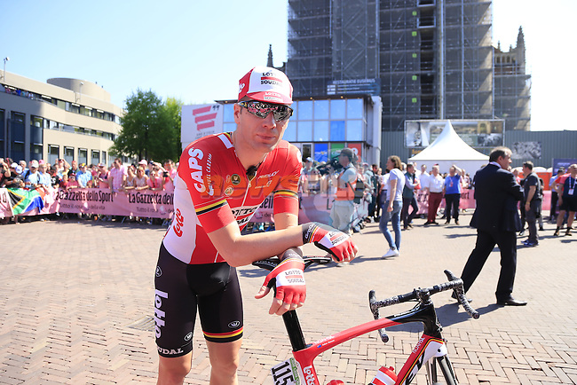 Jurgen Roelandts (BEL) Lotto-Soudal at sign on before the start of Stage 2 of the 2016 Giro d'Italia running 190km from Arnhem to Nijmegen, The Nethrerlands. 7th May 2016.<br /> Picture: Eoin Clarke | Newsfile<br /> <br /> <br /> All photos usage must carry mandatory copyright credit (&copy; Newsfile | Eoin Clarke)
