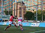 Carinat Dragons vs A-Trade Overseas Old Boys during day 1 of the 2014 GFI HKFC Tens at the Hong Kong Football Club on 26 March 2014. Photo by Juan Flor / Power Sport Images
