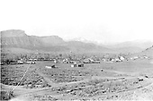 Panorama of Durango, Colorado looking north or NW from some distance east of the railroad.<br /> Durango, CO  Taken by Mollette, Erskine (Rex) - ca. 1910
