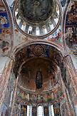 Wandmalereien im Kloster Gelati. / Church interior of Gelati monastery.