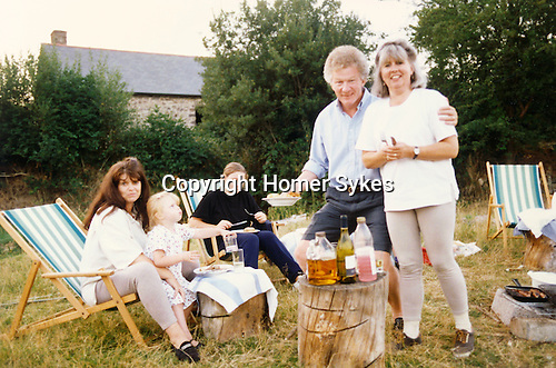 Baistow + Sykes families on holidays 1990s two different dates.