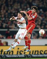 FUSSBALL   1. BUNDESLIGA  SAISON 2012/2013   19. Spieltag   VfB Stuttgart  - FC Bayern Muenchen      27.01.2013 Javi Martinez (re, FC Bayern Muenchen) gegen Christian Gentner (VfB Stuttgart)
