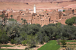 Tinerhir, Morocco. A Berber oasis town on the south eastern foothills of the Atlas Mountains on the fringe of the Sahara desert.