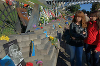 Makeshift memorial to those killed in the Maidan protests on Institutskaya Street, Kyiv, Ukraine. August, 2014.